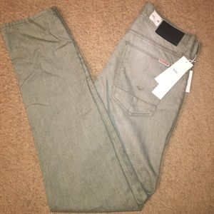 NWT Hudson Blake Slim Straight Mens Green Size 30